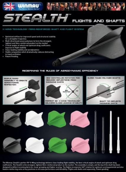 Winmau Stealth Flights and Shafts